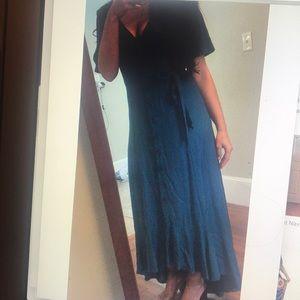 Francesca's blue maxi dress
